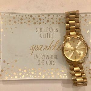 Gold Michael Kors Chain Link Watch